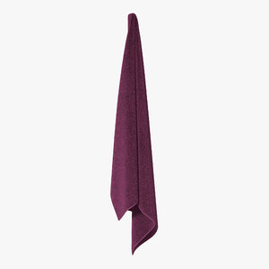 hanging bathroom towel purple 3d max