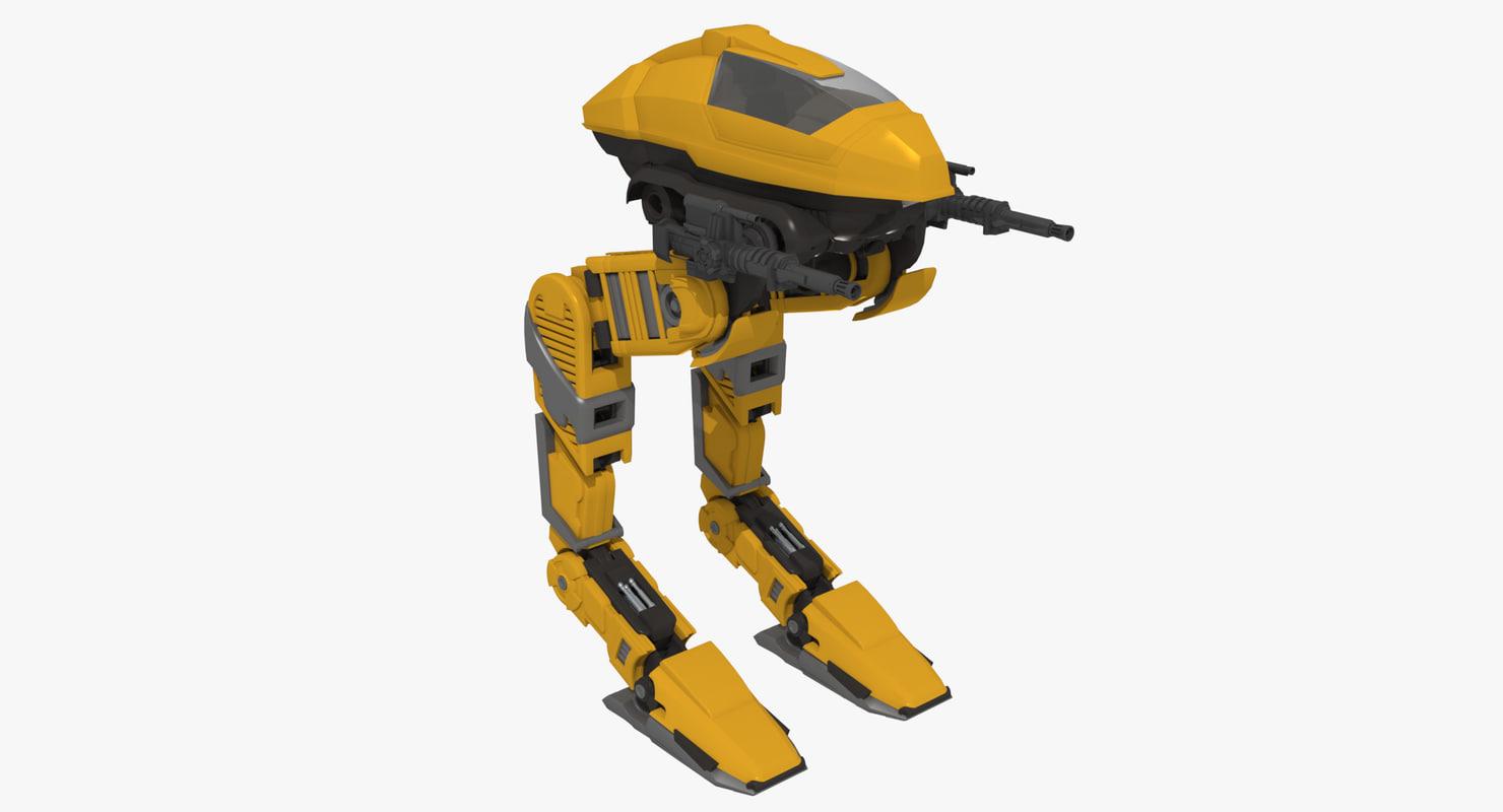 walker futuristic armor 3d model