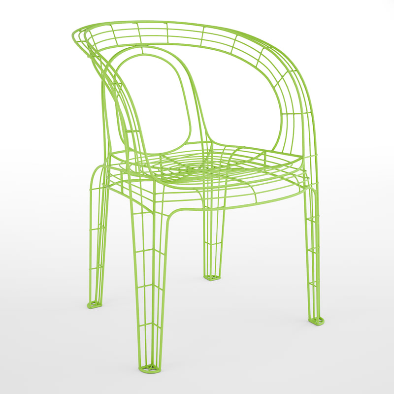 3ds max wire chair
