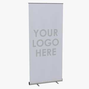 3d model banner stand 2 generic