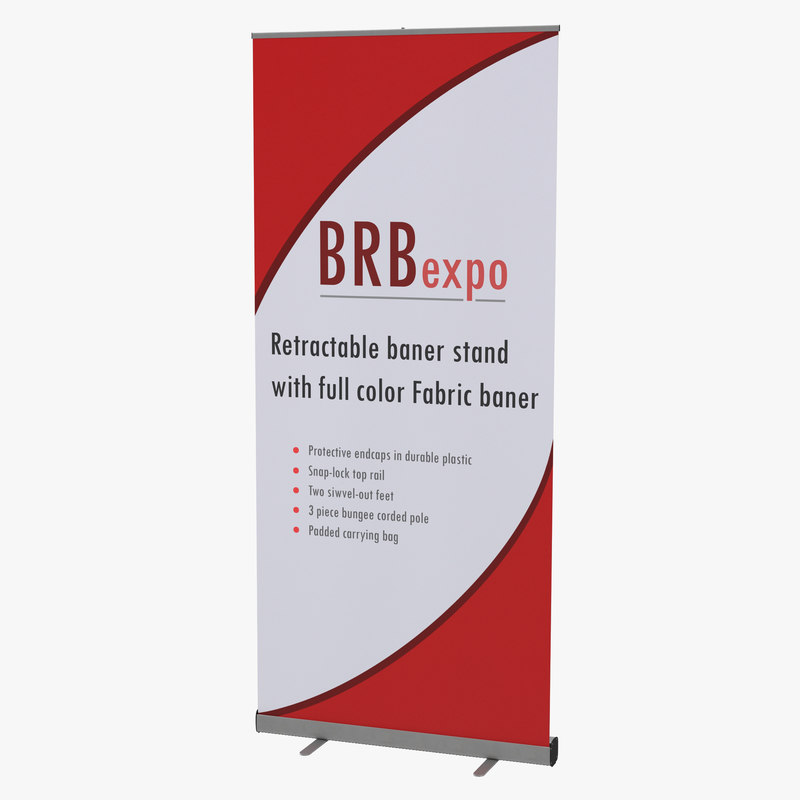 3d banner stand 2 model