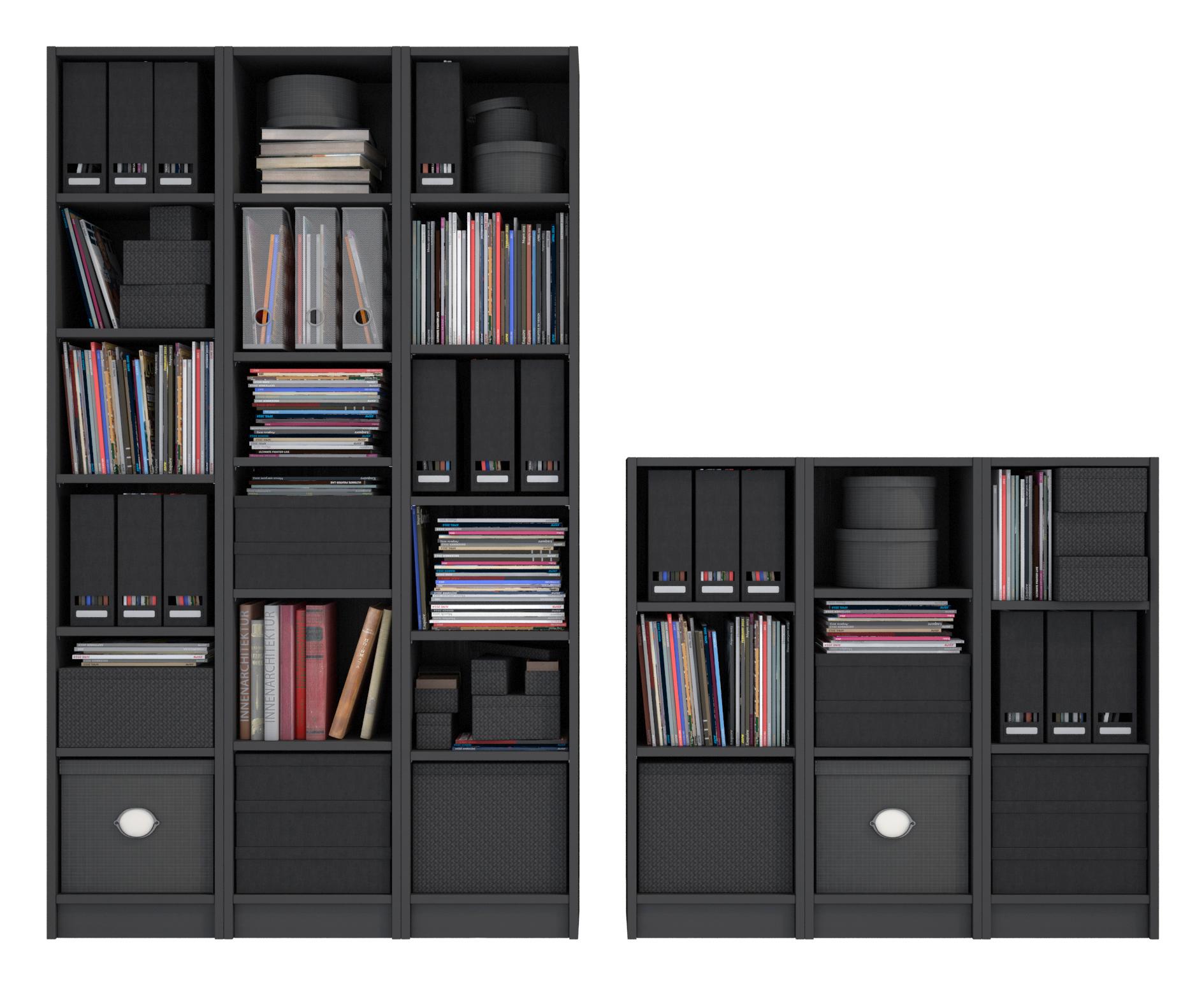 Billy Bookcase Black Brown
