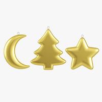 Christmas Ornament Set 3