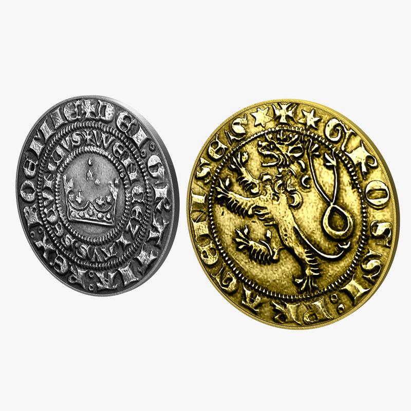 coins realistic 3d max