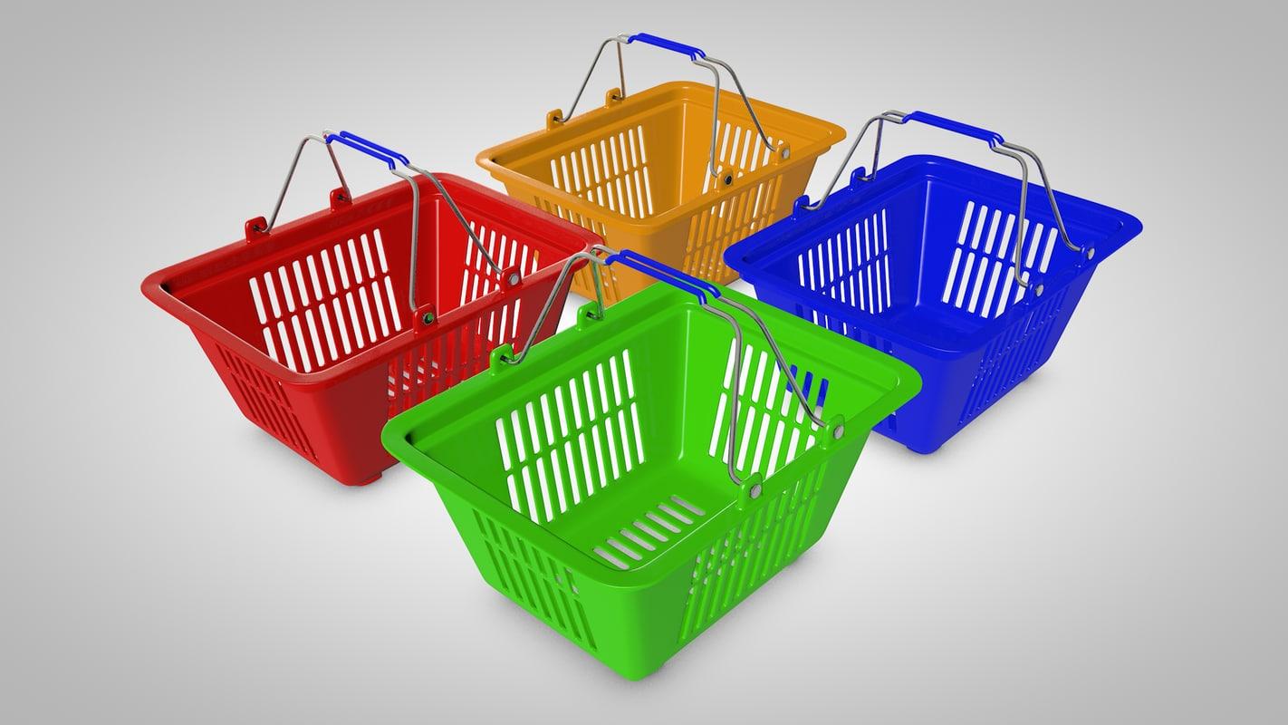 shopping basket 3d c4d
