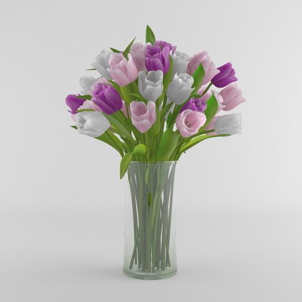3d tulip flower vase