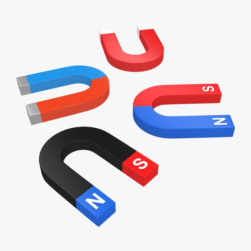 magnet 3d max