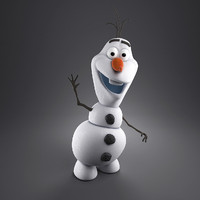 cartoon snowman 3d max