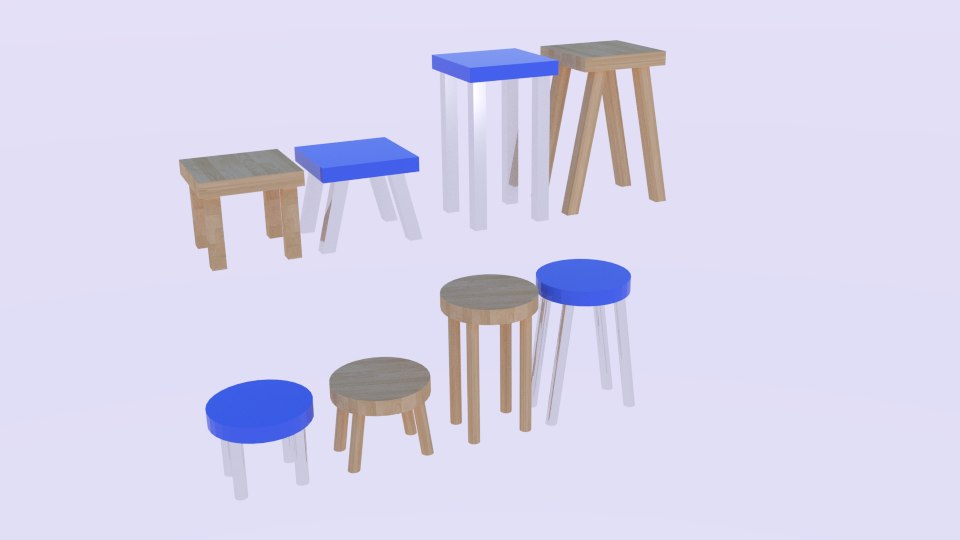 3ds max stool pack