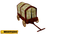 Western,Medieval Style Old Wagon