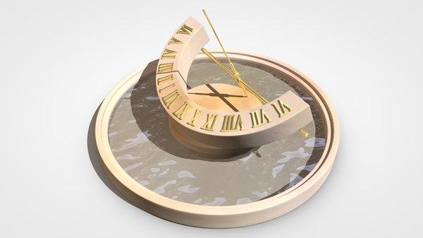 c4d sun dial clock
