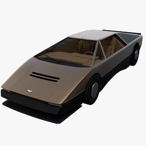 3d supercar aston martin bulldog