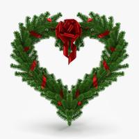 3d max christmas wreath