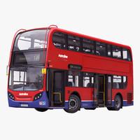 London Bus Enviro400 Rigged 3D Model