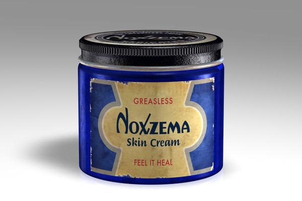 vintage noxzema cream 3d model