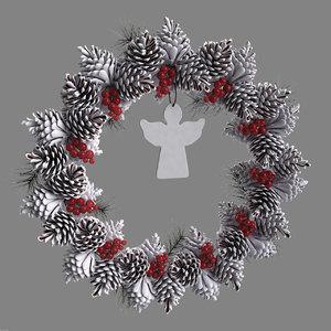 3d model of christmas wreath