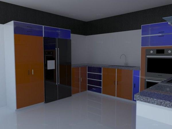3dsmax kitchen design