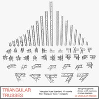 3d triangular trusses 002 model