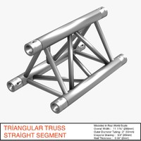 triangular truss straight segment 3d model