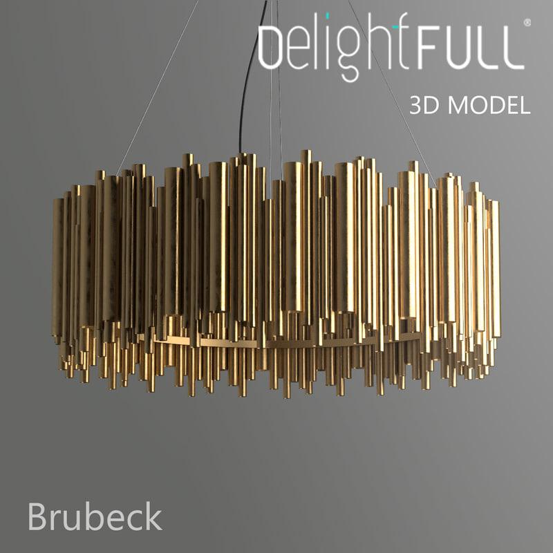 delightfull brubeck lamp light 3d model