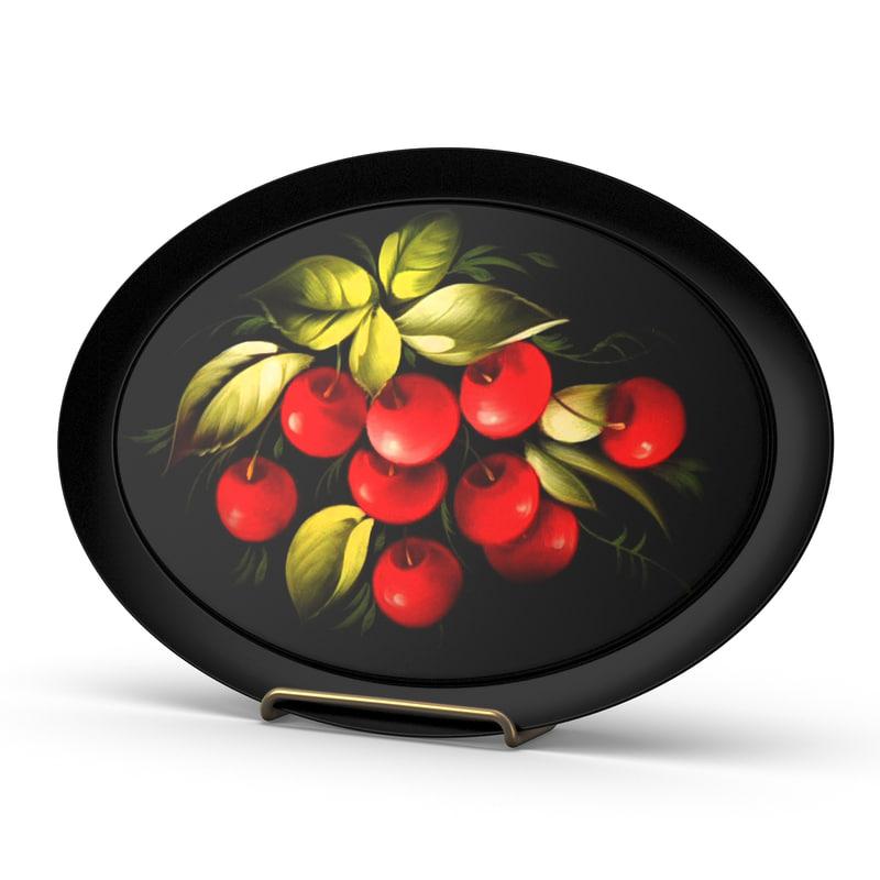 3d model of plates cherry