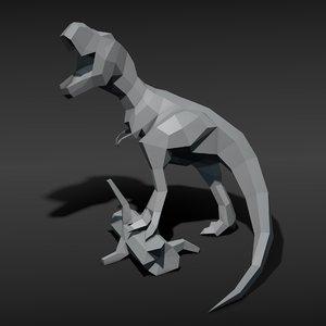 3d tyrannosaurus model