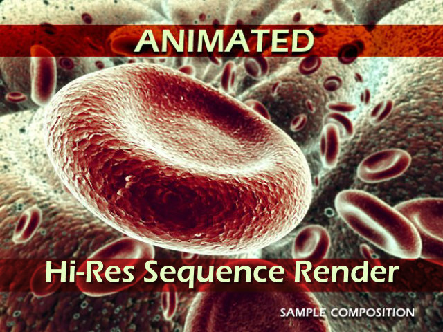 red blood cells animation 3d model