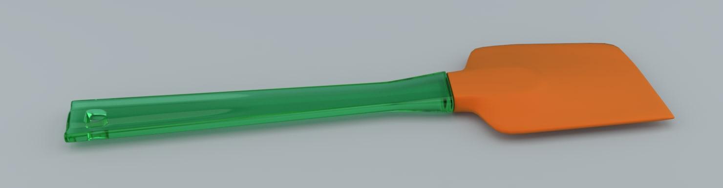 free silicone spatula 3d model
