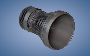 spaceship thruster engine c4d