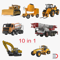 Construction Vehicles Collection 2 3D Models