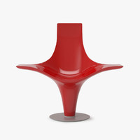 cappellini statuette armchair 3d model