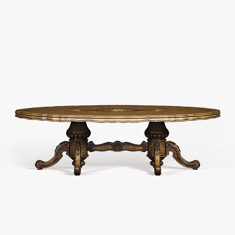 3d model baroque table