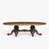 3d model baroque table