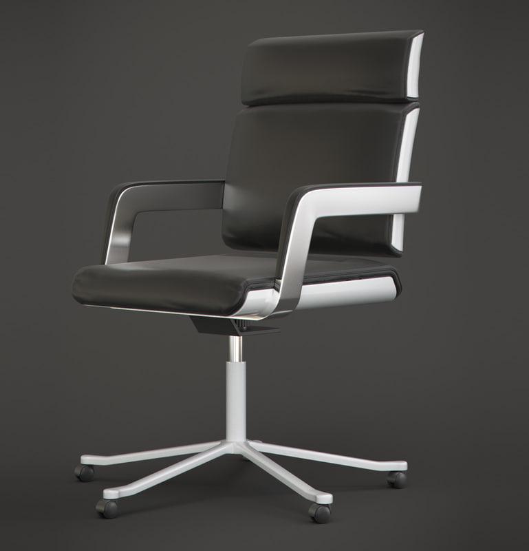 free chair armchair modern 3d model