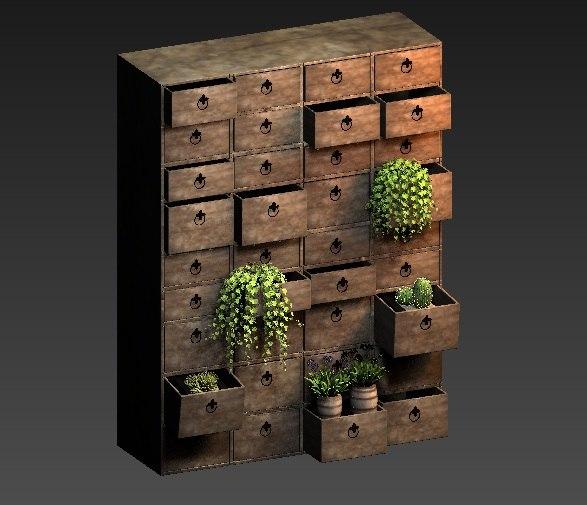 decor shelves 3d max