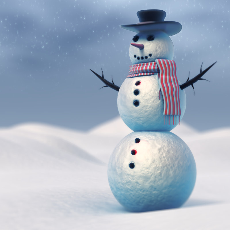 snowman renderer materials 3d max