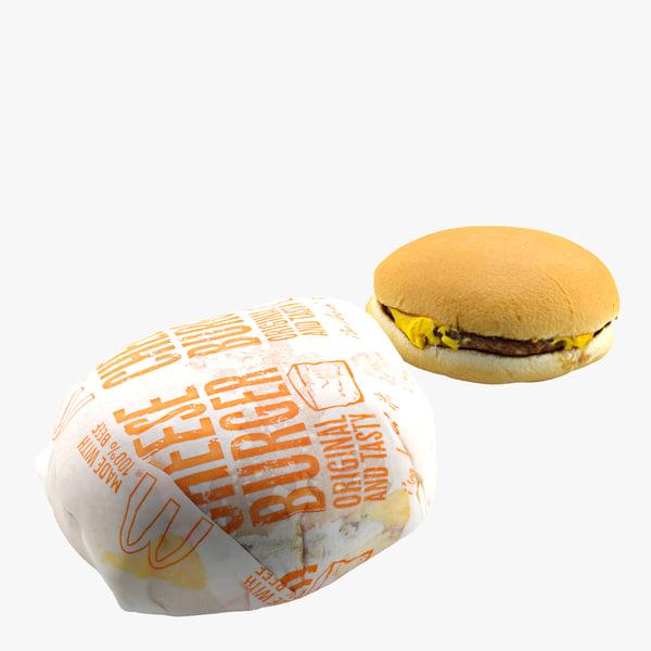 3d realistic cheeseburgers model