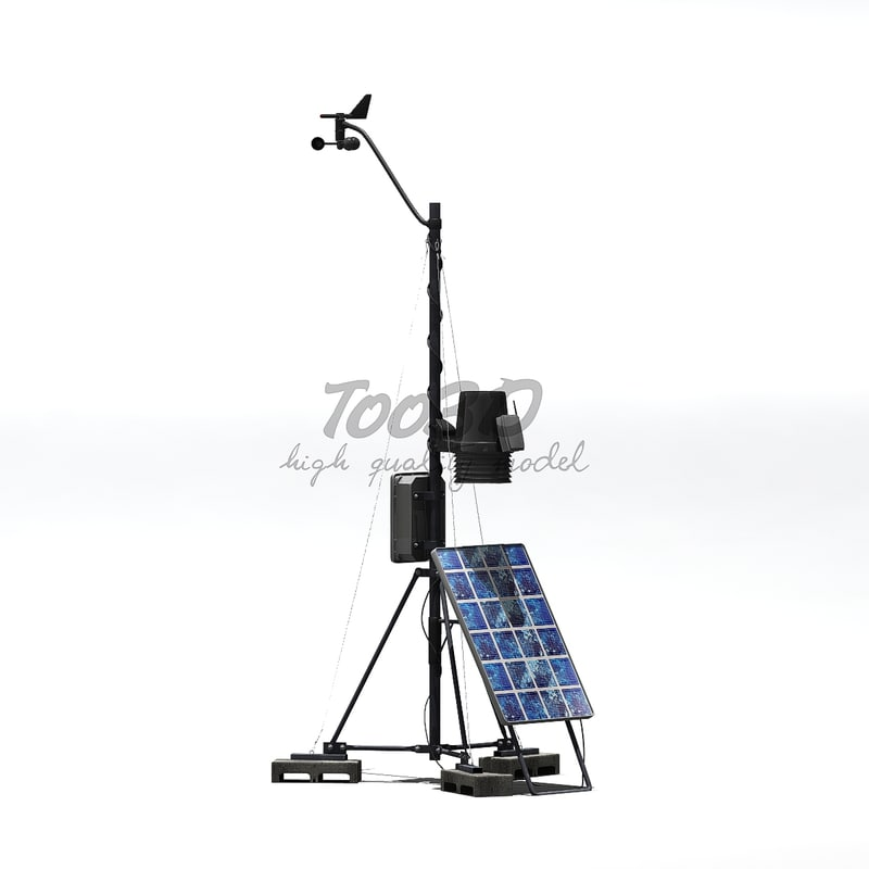wifi weather station 3d model