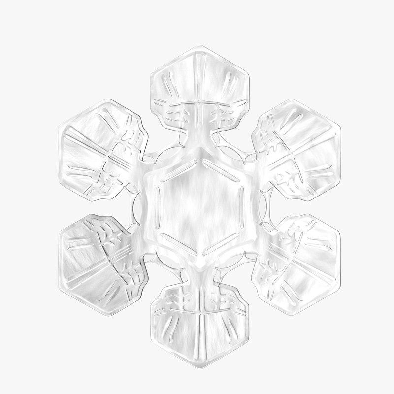 snowflake realistic 3d max