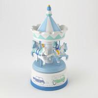 3d musical carousel globe trotter model