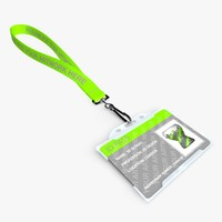 c4d lanyard id leash