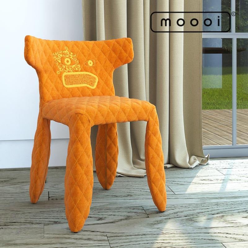 3d model moooi monster chair divina