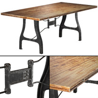 Nuevo V4 A-Leg Small Dining Table with Reclaimed Wood Top