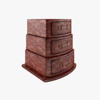 3d model dresser wood