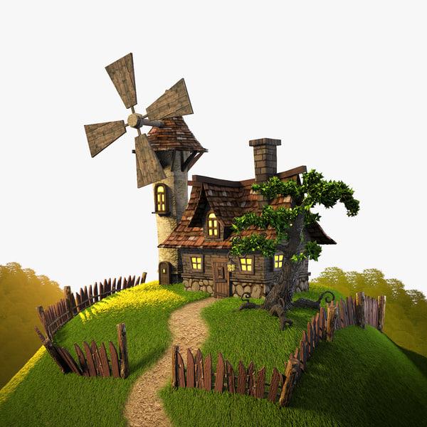 house plants landscape 3d model