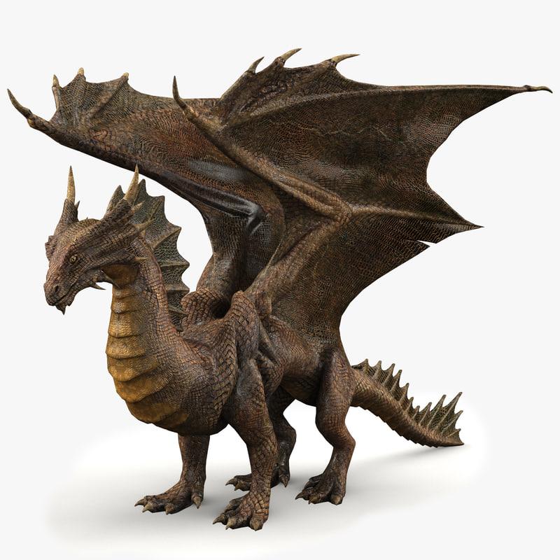 copper dragon 3d model