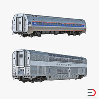 railroad passenger cars 3d model