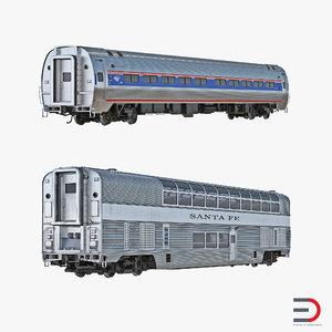 railroad passenger cars 3d model