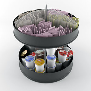 condiment organizer 3d 3ds