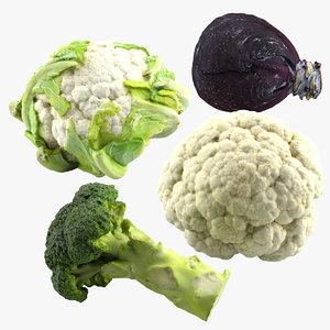 vegetables scan 3d c4d